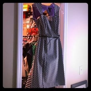 Black and white checkered dress.
